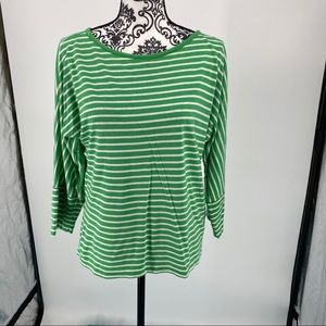 Lauren Ralph Lauren green/white striped top